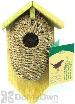 Best For Birds Nest Pocket Sea Grass Bird House with Roof (BFBNKBS)