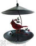 Blue Handworks Cardinal Bistro Bird Feeder (GEBLUEG432)