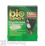 Bio Spot Flea and Tick Collar with IGR for Large Dogs
