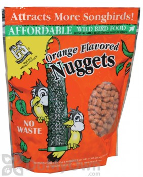 C&S Products Orange Flavored Nuggets Bird Food (103)