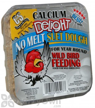 C&S Products Calcium Delight No-Melt Suet Dough (15 oz.) (517)