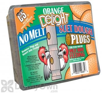 C&S Products Orange Delight No-Melt Suet Dough Plugs (681)