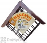 C&S Products Suet Basket Bird Feeder with Copper Roof (709)