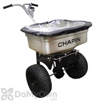 Chapin Professional Salt / Halite / Ice Melt 100 lb Stainless Steel Hopper Spreader