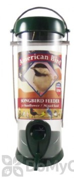 Droll Yankees American Bird Songbird Feeder - Green (ABS8G)