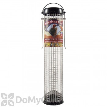 Droll Yankees American Bird Woodpecker Feeder - Black 13 in. (ABW13BK)