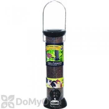 Droll Yankees ONYX Tube 2 Port Nyjer Bird Seed Feeder with Removable Base (CC12N)