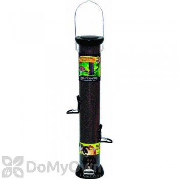 Droll Yankees ONYX Tube 4 Port Nyjer Bird Seed Feeder with Removable Base (CC18N)