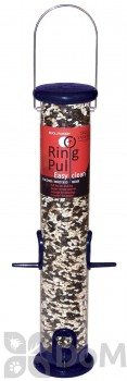 Droll Yankees Ring Pull Easy Clean Sunflower or Mixed Seed Bird Feeder 1 lb. (RPS15B)