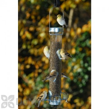 Droll Yankees Nyjer Feeder with Ring Pull Silver Bird Feeder (TH3RP)
