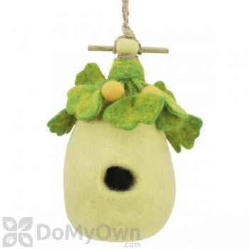 DZI Handmade Designs Gingko Felt Bird House (DZI484026)