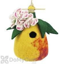 DZI Handmade Designs Pear Felt Bird House (DZI484024)
