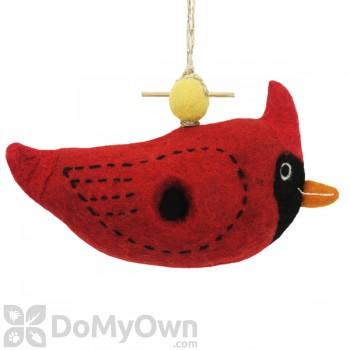 DZI Handmade Designs Cardinal Felt Bird House (DZI484033)