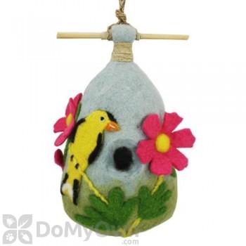 DZI Handmade Designs Cosmo Goldfinch Felt Bird House (DZI484039)