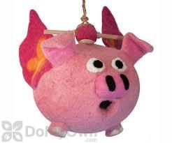 DZI Handmade Designs Flying Pig Felt Bird House (DZI484040)