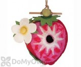 DZI Handmade Designs Strawberry Felt Bird House (DZI484043)