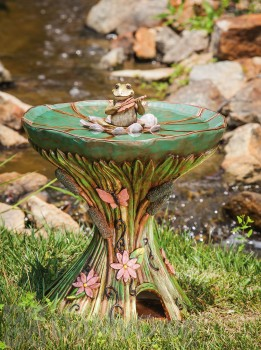Evergreen Enterprises Pond Symphony Bird Bath with Toadhouse Base (843698)