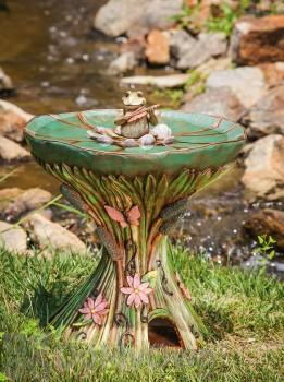 Evergreen Enterprises Pond Symphony Bird Bath with Toadhouse Base (843698)