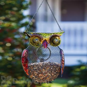 Evergreen Enterprises Harvest Shimmer Owl Bird Feeder (2BF323)