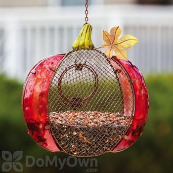 Evergreen Enterprises Harvest Shimmer Pumpkin Bird Feeder (2BF326)