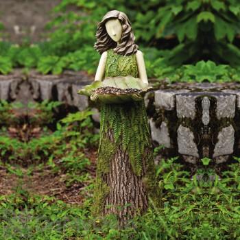 Evergreen Enterprises Sherwood Fern Statuary with Bird Feeder (842730)
