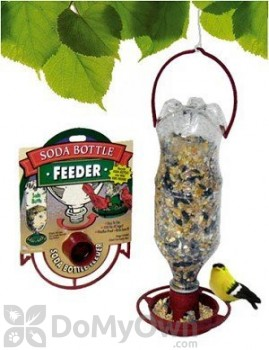 Gadjit Soda Bottle Bird Seed Feeder Terra Cotta (WP13153)