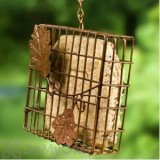 Heath Suet Basket Bird Feeder with Decorative Leaf (2304)