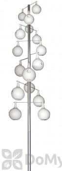 Heath Heavy Duty Aluminum Pole Kit 16 Piece Double Spiral 19 in. (30216)