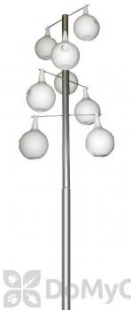 Heath Telescoping Galvanized Steel Pole Kit For Gourds 15 ft. (30308)