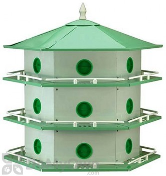 Heath Aluminum 18 Room Purple Martin Bird House (AH18D)