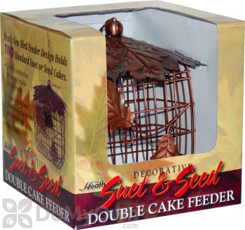Heath Decorative Suet and Seed Double Cake Feeder (2306)