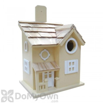 Home Bazaar Yellow Nesting Cottage Bird House (HB7041Y)