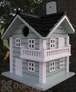 Home Bazaar Blue Surf City Beach Bird House (HB9059B)