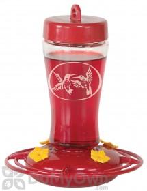 Homestead Etched Glass Hummingbird Feeder 12 oz. (3910)