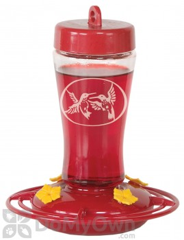Homestead Etched Glass Hummingbird Feeder 12 oz. (3910)