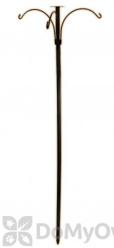 Hookery Three Armed Bird Feeder Pole with Plate 96 in. (BFTP)