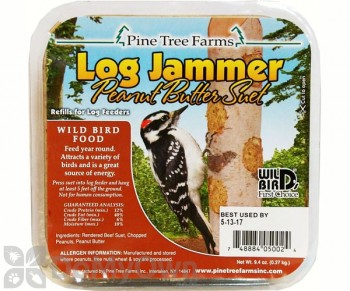 Pine Tree Farms Log Jammer Peanut Suet Bird Food Pack (3 x 9.4 oz) (5002)