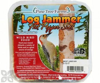 Pine Tree Farms Log Jammer Hot Pepper Suet Bird Food Pack (3 x 9.4 oz) (5005)