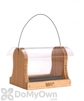 Natures Way Bamboo Hopper Bird Feeder 4 qt. (BWF15)