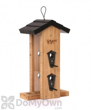 Natures Way Bamboo Vertical Straight Bird Feeder 2 qt. (BWF7)