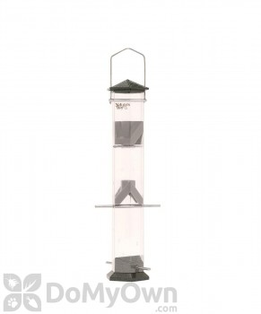 Natures Way Twist and Clean Thistle Bird Feeder Pewter 17 in. (DT17P)