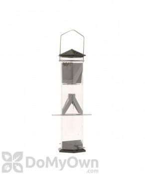 Natures Way Wide Twist and Clean Thistle Bird Feeder Pewter 17 in. (WT17P)