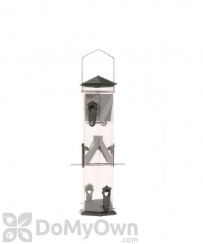 Natures Way Wide Pewter Twist and Clean Sunflower Seed Bird Feeder 17 in. (WS17P)