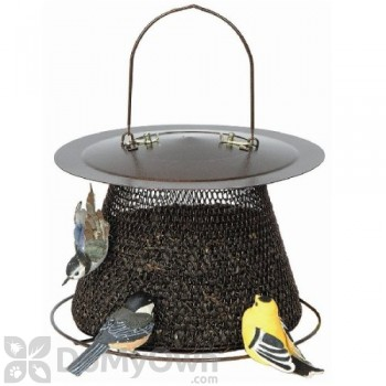 No / No Feeder Bronze Bird Feeder with Roof 2.5 lb. (BZ00324)