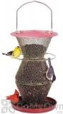 No / No Feeder Red and Brass 3 Tier Standard Bird Feeder 10.6 in. (RB300334)