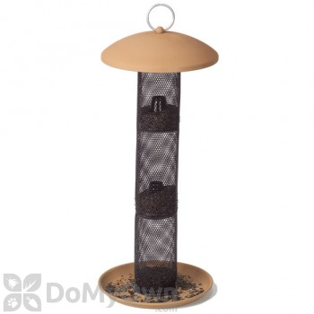 No / No Feeder Tan Straight Sided Sunflower Seed Tube Bird Feeder 17.5 in. (TSS00347)