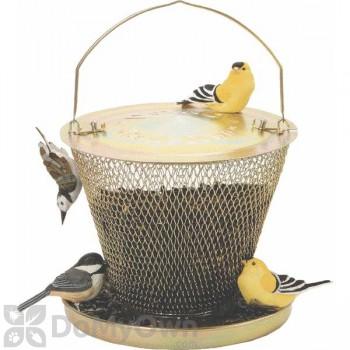 No / No Feeder Brass Bird Feeder with Tray 2.5 lb. (UD00314)