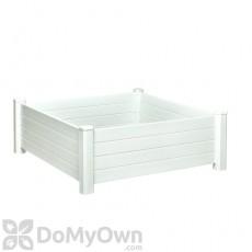 Nuvue Raised Garden Bed Modular White PVC 4' x 4'