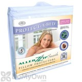 Protect-A-Bed Allerzip Smooth Pillow Protectors - Queen (2 pack)