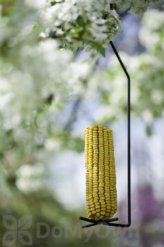 Panacea Black Cylinder Corn Cob Seed Bird Feeder (83195)